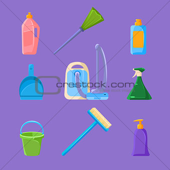 Cleaning and Housework Icons Set