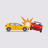 Car Insurance and Accident Risk Vector Illustration