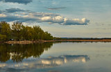 The Volga landscape with reflection