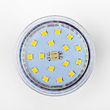 led diode light bulb on white