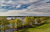 Flood of Volga in the spring