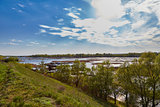 Flood plain of Volga in the spring