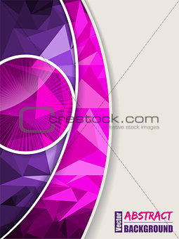 Abstract pink purple brochure with polygons