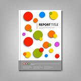 Brochures book or flyer with colored abstract circles