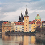 Landscape of quay in Prague