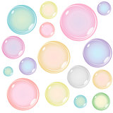 Colored Soap Bubbles