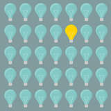 minimalistic lightbulbs background