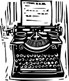 Woodcut Typewriter