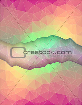 Greeting card made in polygonal style