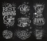 Coffee signs chalk
