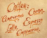 Lettering coffee drops kraft