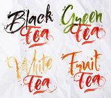 Lettering tea drops