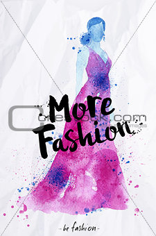 Watercolor poster lettering more fashion