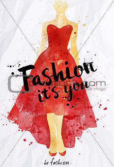 Watercolor poster lettering fashion its you