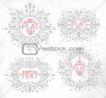 Flat monogram grey
