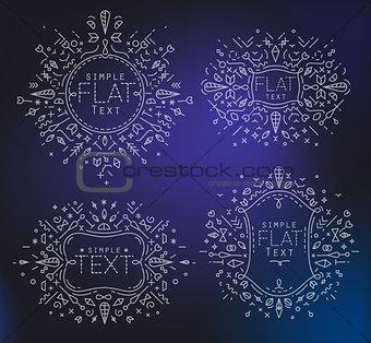 Flat monograms
