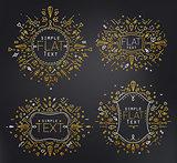 Flat monograms gold