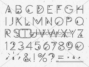 Font Flat paper