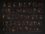 Font Flat chalk red