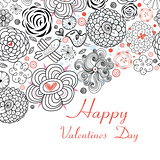 Floral Design Cards for Valentine s day holiday