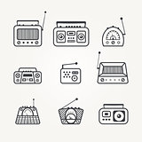 Radio icon set