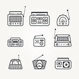 Radio icon set