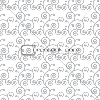 Abstract monochrome curve seamless pattern