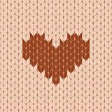 Knitted heart seamless pattern