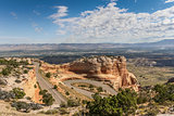 Winding road through colorado national monument