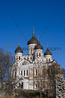 Aleksandr Nevsky russian orthodox cathedral in Tallinn