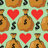 Seamless pattern with money