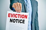 man with an eviction notice