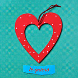 te quiero, I love you in Spanish