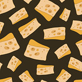 vector cheese pattern