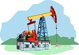 colored oil rig