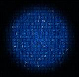 Technology concept hex code digital background