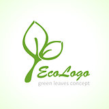 vector icon green ecology leaf