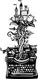 Woodcut fantasy Typewriter