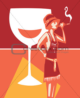 Flapper Speakeasy Wine