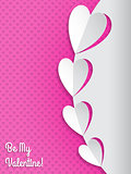 Cool valentine greeting card with hearts
