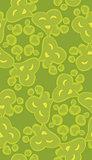 Seamless Green Heart Pattern