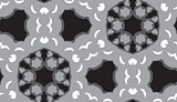 Seamless Gray and Black Geometric Pattern