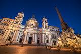 Rome, Italy: Piazza Navona, Sant'Agnese in Agone Church Navona
