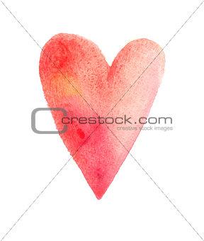 Watercolor tender heart