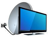 TV with Satellite antenna