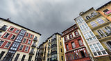 Houses in Bilbao old casco viejo