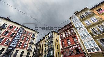 Houses in Bilbao old casco viejo