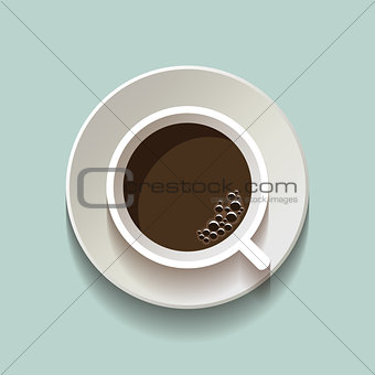 Flat vector coffee cup icon
