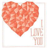 Vector Card With Heart