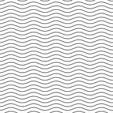 Wavy line black-white seamless pattern